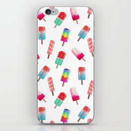 Watercolored Popsicles iPhone Skin