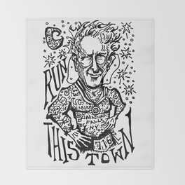 Run This Town Throw Blanket