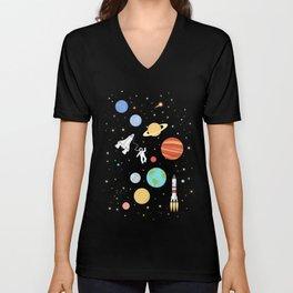 In space Unisex V-Neck