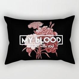 my blood Rectangular Pillow