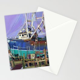 The Susan L in dry dock, Cape May, NJ Stationery Cards