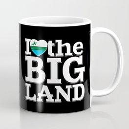 I Heart the Big Land (on black) Coffee Mug