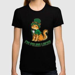 Lucky Kitten - I'm Feline Lucky - Irish Cat T-shirt