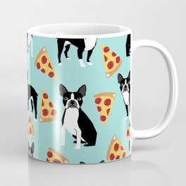 boston terrier pizza dog lover pet gifts cute boston terriers pure breeds Coffee Mug
