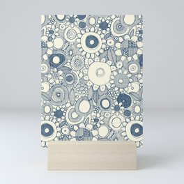 scramble blue pearl Mini Art Print