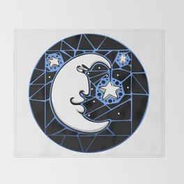 Moon and Stars Trellis Throw Blanket
