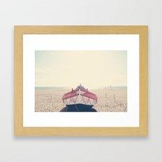 Nazare fishing boat Framed Art Print