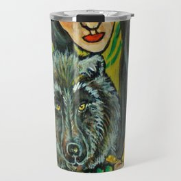 Driftwood Wolf * Nature Maiden Travel Mug