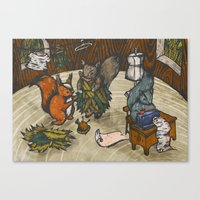 sewing Canvas Prints featuring Sewing Room by Kelsey Oseid