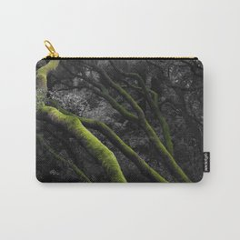 Mossy Bay Trees in Selective Black and White Carry-All Pouch