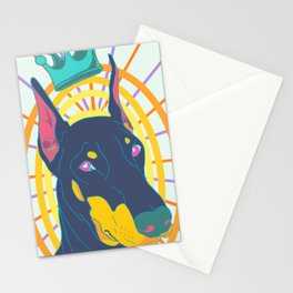 Doberman is King Stationery Cards