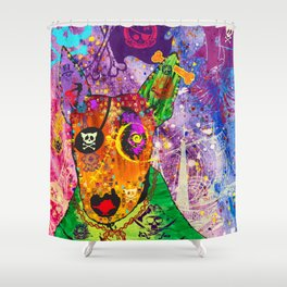 Rocket Shower Curtain