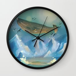 Flying Narwhals Wall Clock
