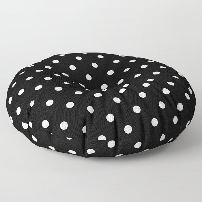 Black & White Polka Dots Floor Pillow