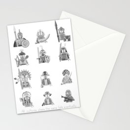 All Warriors Stationery Cards