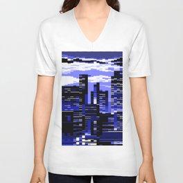 pxl cityscape Unisex V-Neck