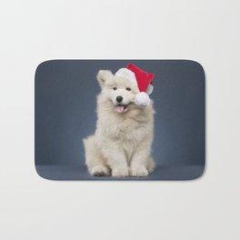 Christmas puppy Bath Mat