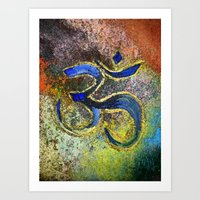 namaste Art Prints featuring Namaste by Imperfections