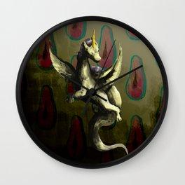 Papaya the dragon unicorn Wall Clock