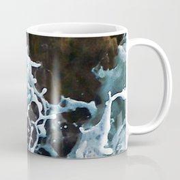 Elegant Sea Foam Splashing Against Coastal Rocks Coffee Mug