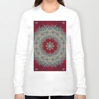 blood Long Sleeve T-shirts featuring Mandala Nada Brahma  by Elias Zacarias