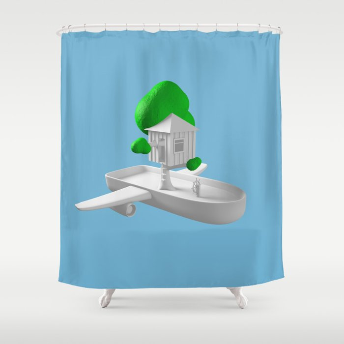 Tree House Boat Shower Curtain