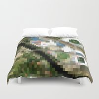 melbourne Duvet Covers featuring Melbourne by Mark John Grant