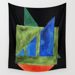 180818 Inverted Geometrical Watercolour 2| Colorful Abstract | Modern Watercolor Art Wall Tapestry