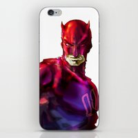 daredevil iPhone & iPod Skins featuring DAREDEVIL by peocle