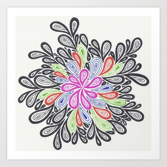 Blooming in the Dark Art Print