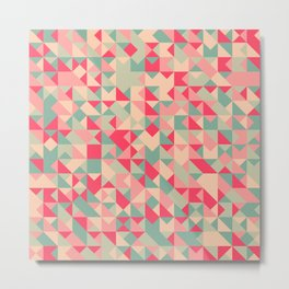TRIANGLE GEOMETRY PATTERN v1 Metal Print