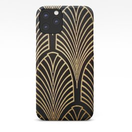Art nouveau Black,bronze,gold,art deco,vintage,elegant,chic,belle époque iPhone Case