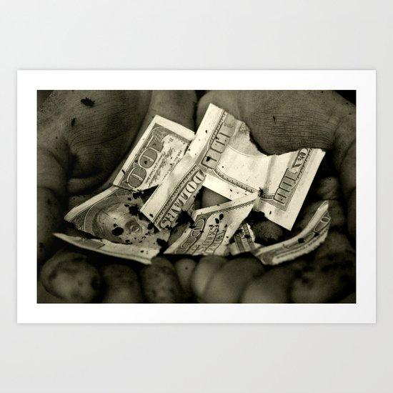 Greed Art Print