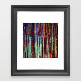 Colored Bamboo 2 Framed Art Print