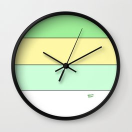 COLOUR COUPLES KEY LIME PIE Wall Clock