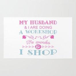 MY HUSBAND & I ARE DOING A WORKSHOP Rug