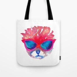 Trimmed Pomeranian in glasses Tote Bag