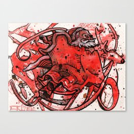 Secret Santa Canvas Print