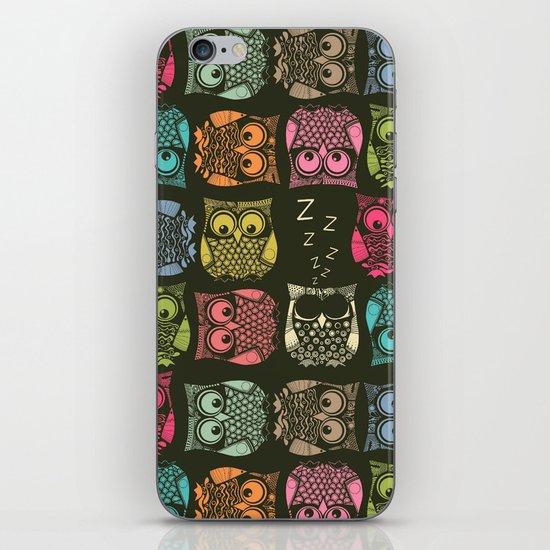 sherbet owls iPhone & iPod Skin