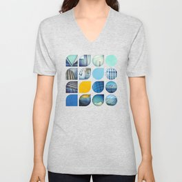 Cold Comfort Collage — The Blues Unisex V-Neck
