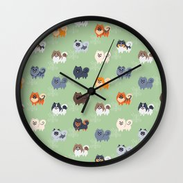 Pomeranians Wall Clock