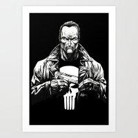punisher Art Prints featuring Punisher by Levi Cleeman
