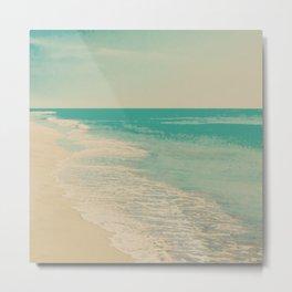 Love Comes In Sea Waves Metal Print