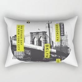 New York Brooklyn Bridge Illustration Rectangular Pillow