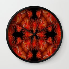 Red FIS Abstract 2 Wall Clock