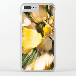 Autumn Leaves Abstract Clear iPhone Case