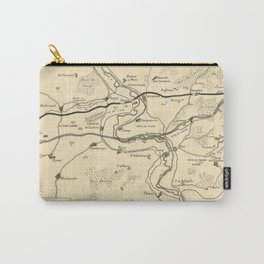Vintage Map Print - Western Front of World War I at Verdun, between August 20th and 25th, 1917 Carry-All Pouch