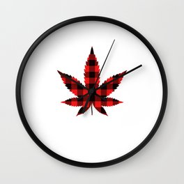 Dear Santa, Just Bring Smokes Merry Christmas December 25 T-Shirt Design Weed Cannabis 420 Marijuana Wall Clock