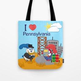 Ernest and Coraline | I love Pennsylvania Tote Bag