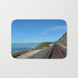 Costal Train Tracks Bath Mat